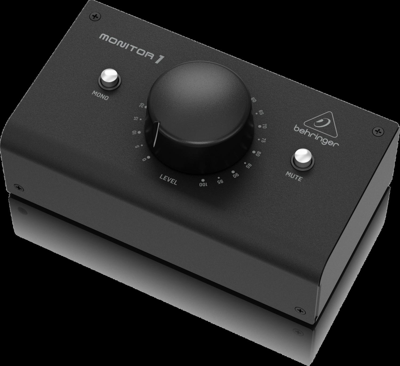 Behringer MONITOR1 настольный регулятор уровня сигнала, пассивный, балансный, контроллер мониторов, XLR I/O, MONO, MUTE