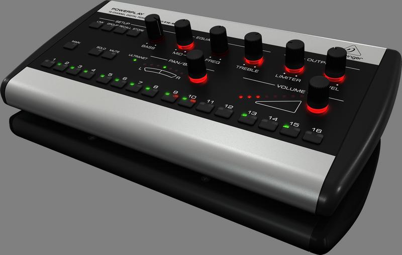 Behringer P16-M цифровой микшер16 каналов ULTRANET в стерео, используется в системе мониторинга Powerplay