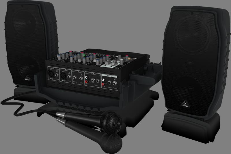"""Behringer PPA200 - 5-канальная система звукоусиления, 2х75Вт, 4""""+1"""", процессор эффектов KLARK TEKNIK и FBQ, микрофон XM1800S, кабели"""