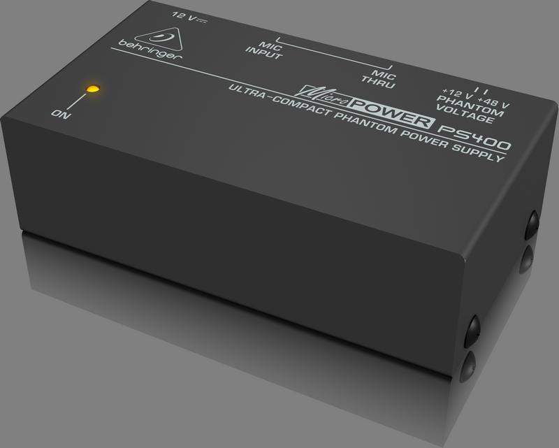 Behringer PS400 Внешний блок фантомного питания с переключаемым рабочим напряжением (+48 В или +12 В)