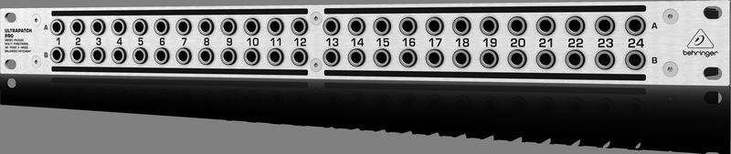 Behringer PX3000 Патч панель 2 х 24, симметричная с переключателями, изменяющими нормализацию