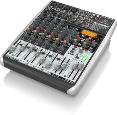 Behringer QX1204USB аналоговый микшер, 10 каналов, 4 мик. + 2 лин. стерео + 1 AUX RET, 2 AUX (1 PRE/POST), Mute - MAIN/ALT3-4, DSP FX Klark Teknik LCD, USB-audio, Main L/R- XLR, 4 компрессора, USB-Wir