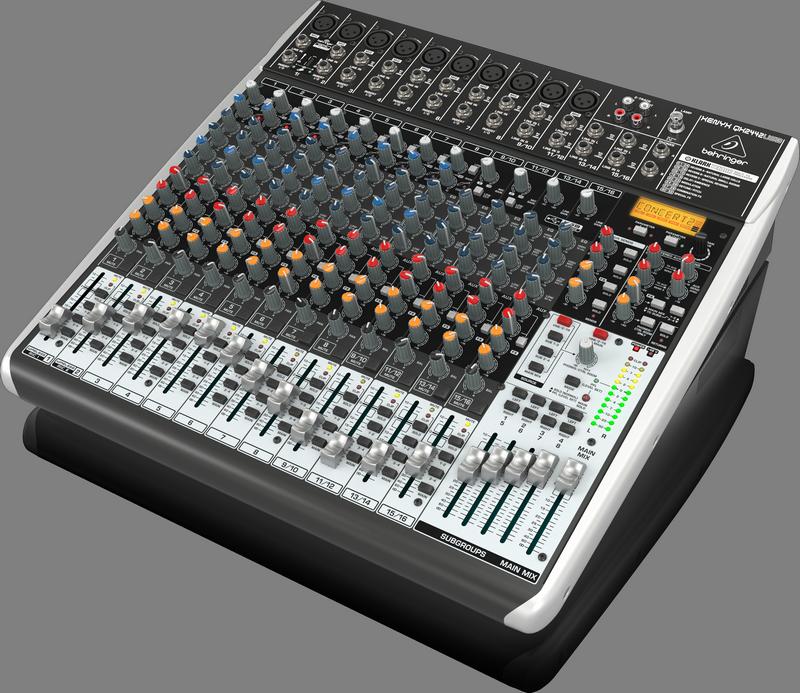Behringer QX2442USB аналоговый микшер, 16 каналов, 8 мик.+2 мик.моно/лин. стер.+ 2 лин.стер.+ 4 AUX RET, 4 AUX, 2 GROUP, FX KlarkTeknik LCD, 8 компр.