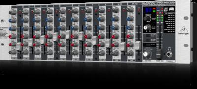 Behringer RX1202FX микшер,рэковый 3U, 8 моновходов, 2 стереовхода, 2 AUX-шины