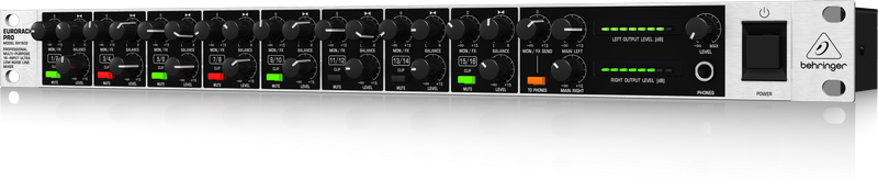 Behringer RX1602 микшер, рэковый, 8 моно/стерео,16 балансных линейных входов