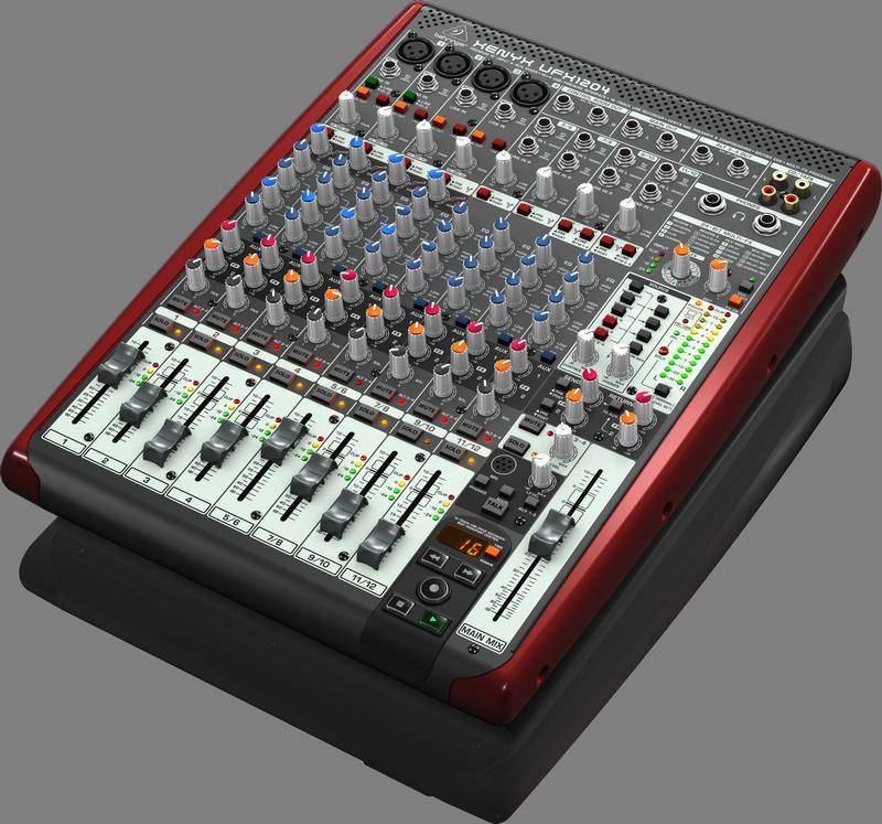 Behringer UFX1204 аналоговый микшер, 12 каналов, 4 мик.+4 лин. cтер.+2 AUX RET, 2AUX, MAIN/ALT3-4, FX,16x4USB/FireWire-audio24/96,4 комп,16 рек.100мм