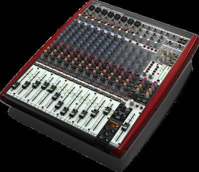 Behringer UFX1604 аналоговый микшер, 16 каналов, 8 мик.+4 лин.cтер.+4AUX RET,4AUX,4 пол.EQ, MAIN/ALT3-4,2FX,16x4 USB/FireWire, 8 комп,16 рек,100мм.