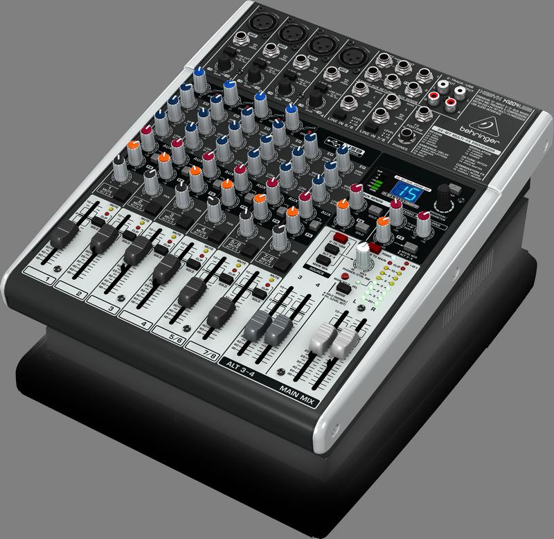 Behringer X1204USB аналоговый микшер,10 каналов, 4 мик.+2 лин.стерео+1 AUX RET,2 AUX (1 PRE/POST), MAIN/ALT3-4, FX, USB-audio, MainL/R-Jack,4 комп.