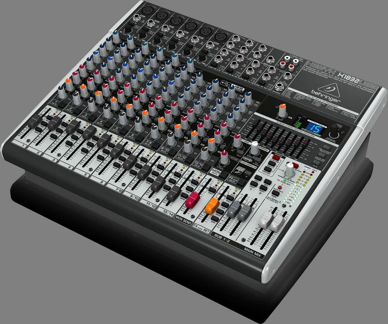Behringer X1832USB аналоговый микшер, 14 каналов, 6 мик.+4лин.стер.+2 AUX RET, 3 AUX (1 PRE/POST), 1 GROUP, FX,USB-audio,MainL/R- XLR/Jack, 6 ком, GEQ
