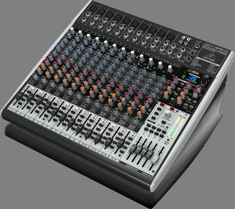 Behringer X2442USB аналоговый микшер, 16 каналов, 8 мик.+2 мик.моно/лин.стер.+2 лин.стер.+4 AUX RET,4 AUX (2 PRE/POST), 2GROUP, FX, USB-Audio,8 компр.