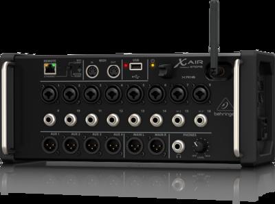 Behringer XR16 цифровой микшер, 8 мик Midas XLR + 8 лин Jack, Main L/R XLR, Aux 1-4 XLR, 16 кан/4FX/6BUS, ETHERNET,WiFi, USB-стерео зап/воспр.