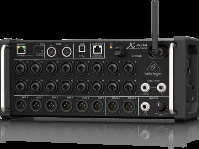 Behringer XR18 цифровой микшер, 16 мик Midas XLR, Main L/R XLR, Aux 1-6 XLR, 18 кан/4FX/6BUS, ETHERNET,WiFi, USB-18/18кан. ULTRANET