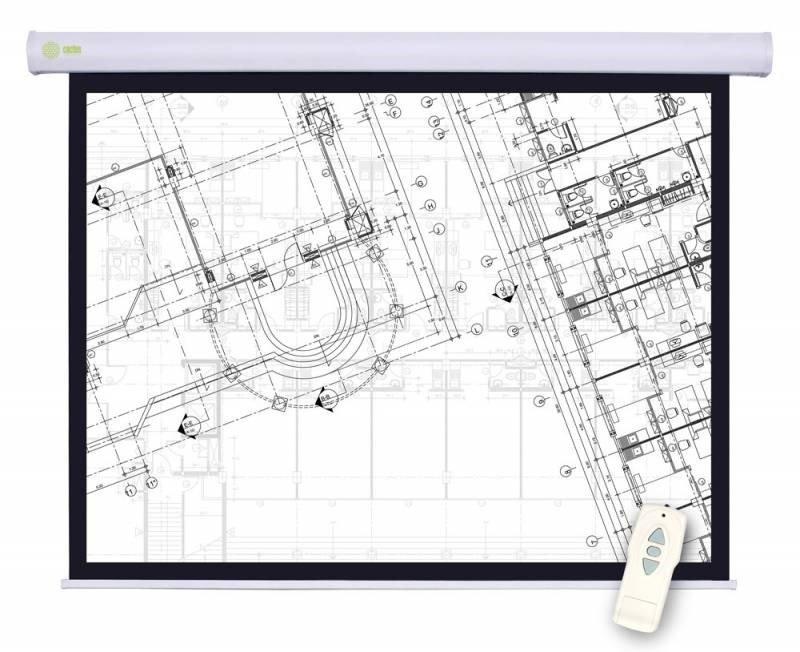 """Экран Motoscreen CS-PSM-180X180 100"""" 1:1 настенно-потолочный рулонный (моторизованный привод)."""