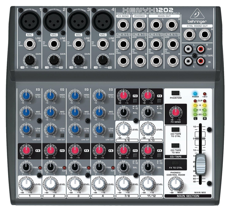 Behringer 1202 аналоговый микшер, 12 каналов