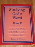 Studying Gods Word Book E Teacher Manual
