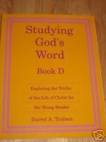 Studying Gods Word Book D Teacher Manual