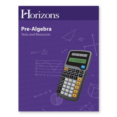 Horizons Pre-Algebra Tests and Resources Book