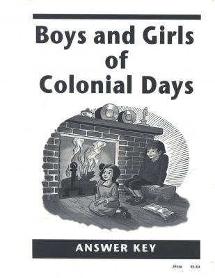 Boys and Girls Of Colonial Ak (answer Key Grade 4)