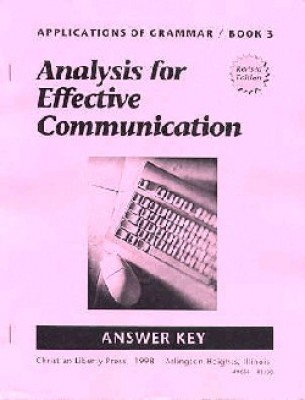 Applications Of Grammar Book 3 Answer Key