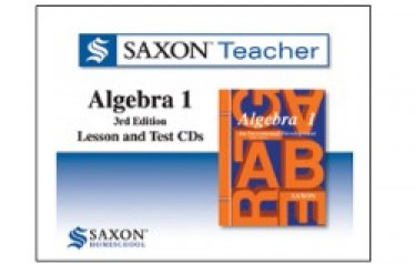 Saxon Homeschool Algebra 1 3rd Edition Teacher Lesson and Test CDs (8th - 10th Grade)