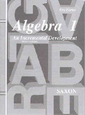 Saxon Algebra 1 Tests Only Third Edition (9th Grade)