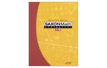 Saxon Math 76 Solutions Manual Fourth Edition (6th Grade)
