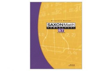 Saxon Math 87 Solutions Manual Third Edition (7th Grade)