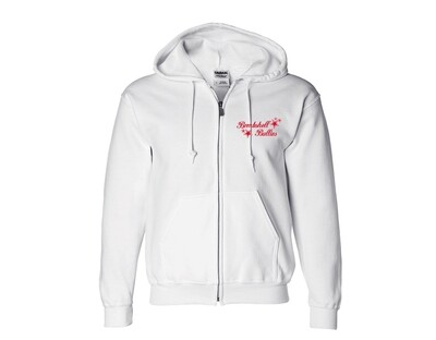 White Zip-Up Bombshell Sweatshirts