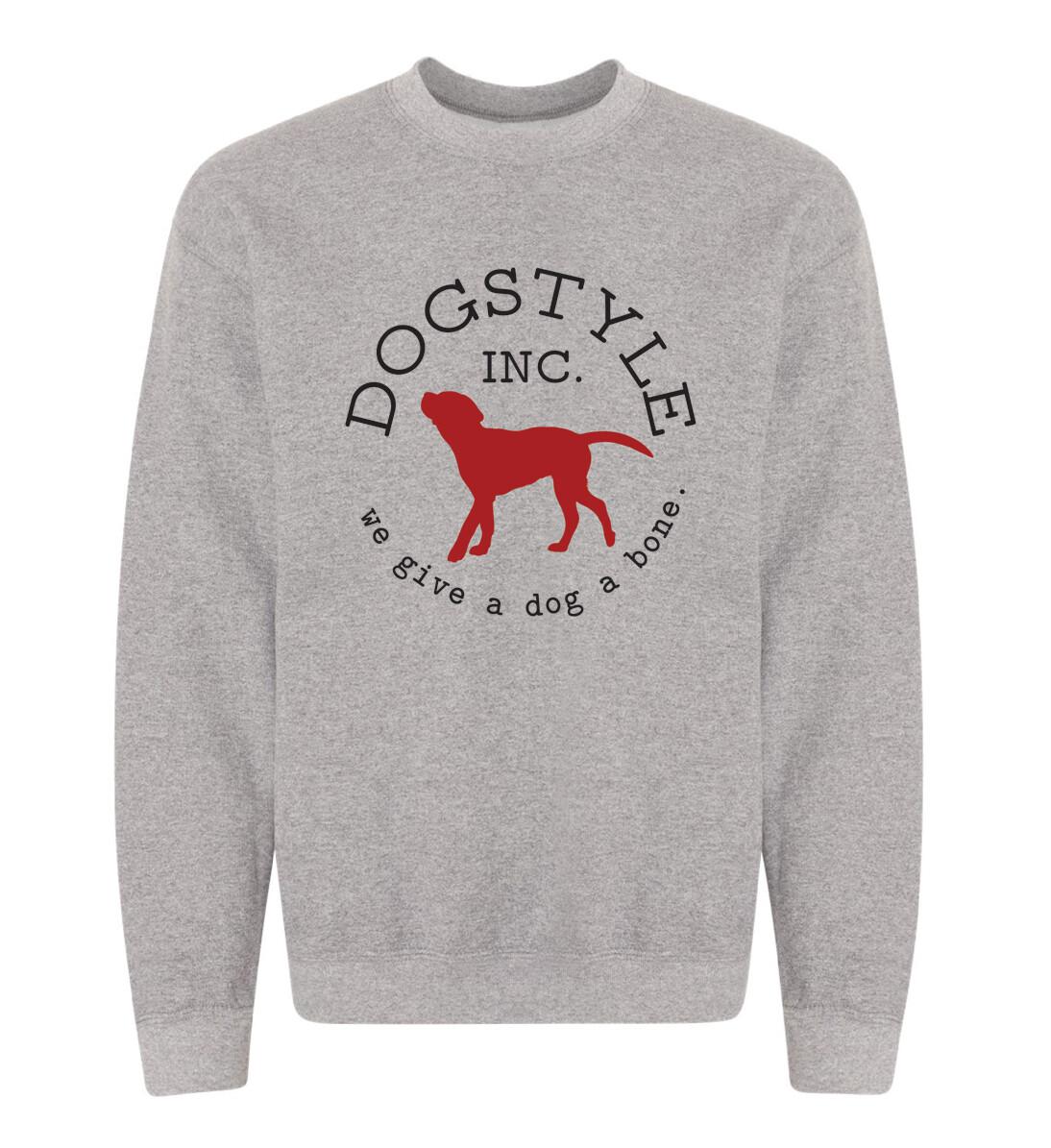 Dogstyle Crew Neck Sweatshirt - Graphite Heather