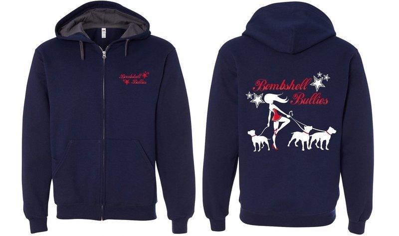 Bombshell Navy Zip Up Sweatshirt