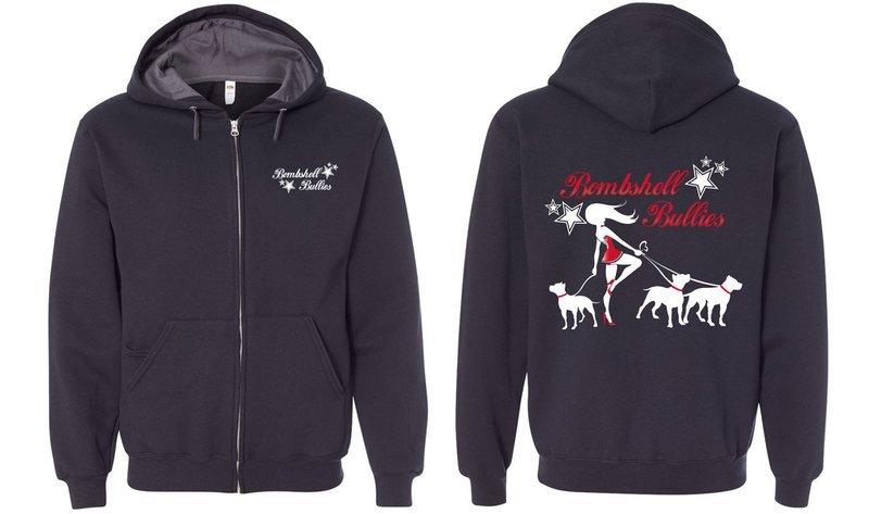 Bombshell Black Zip Up Sweatshirt