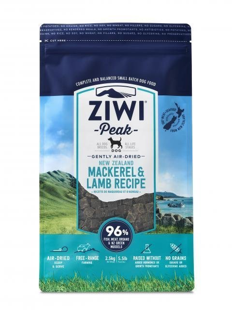 Ziwi Peak Air-Dried Mackeral and Lamb (1lb or 2.2lb)