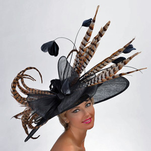 Pheasant Bow Beauty Hat