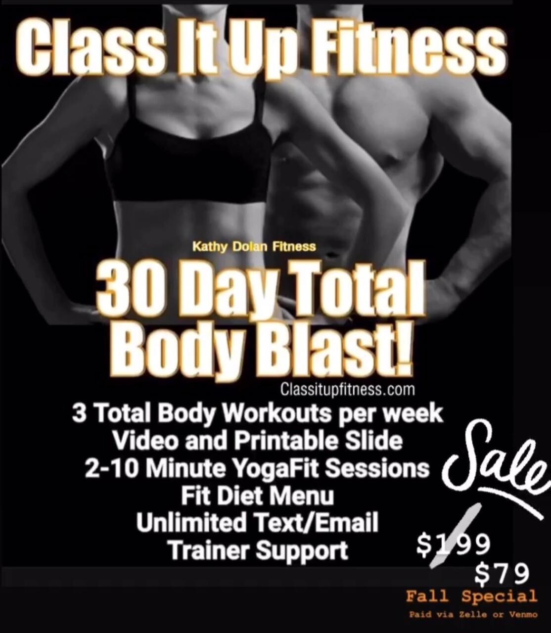 Total Body Blast 30 Day Transformation SALE
