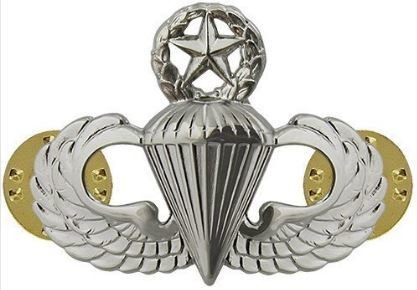 bdg/ Master Parachutist Wings - Mirror Finish (Regulation Badge)