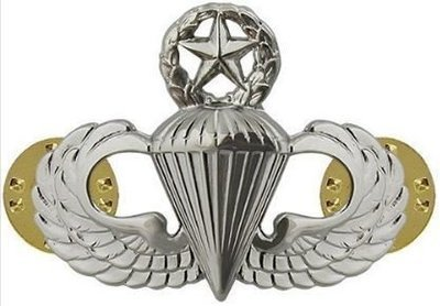 bdg/ Master Parachutist Wings - Mirror Finish (Regulation Badge)