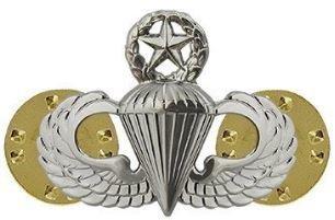 bdg/ Master Parachutist Wings - Mirror Finish (Mini Badge) 04-0005