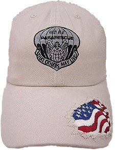 pja/ PJ Inspired Tan Cap w/embroidered American Flag 01-0014
