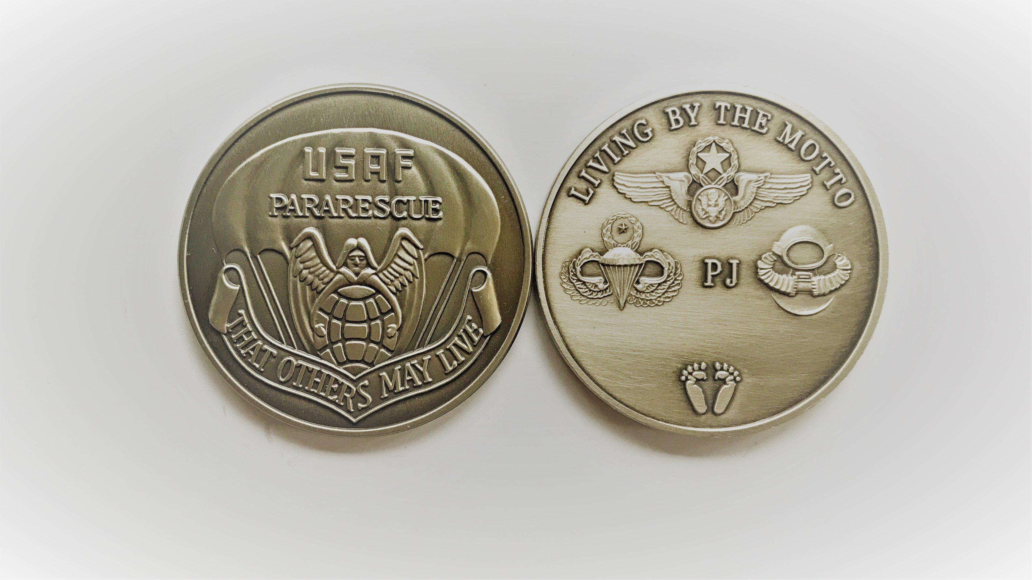 pja/ PJ Challenge Coin - Peweter 01-0029