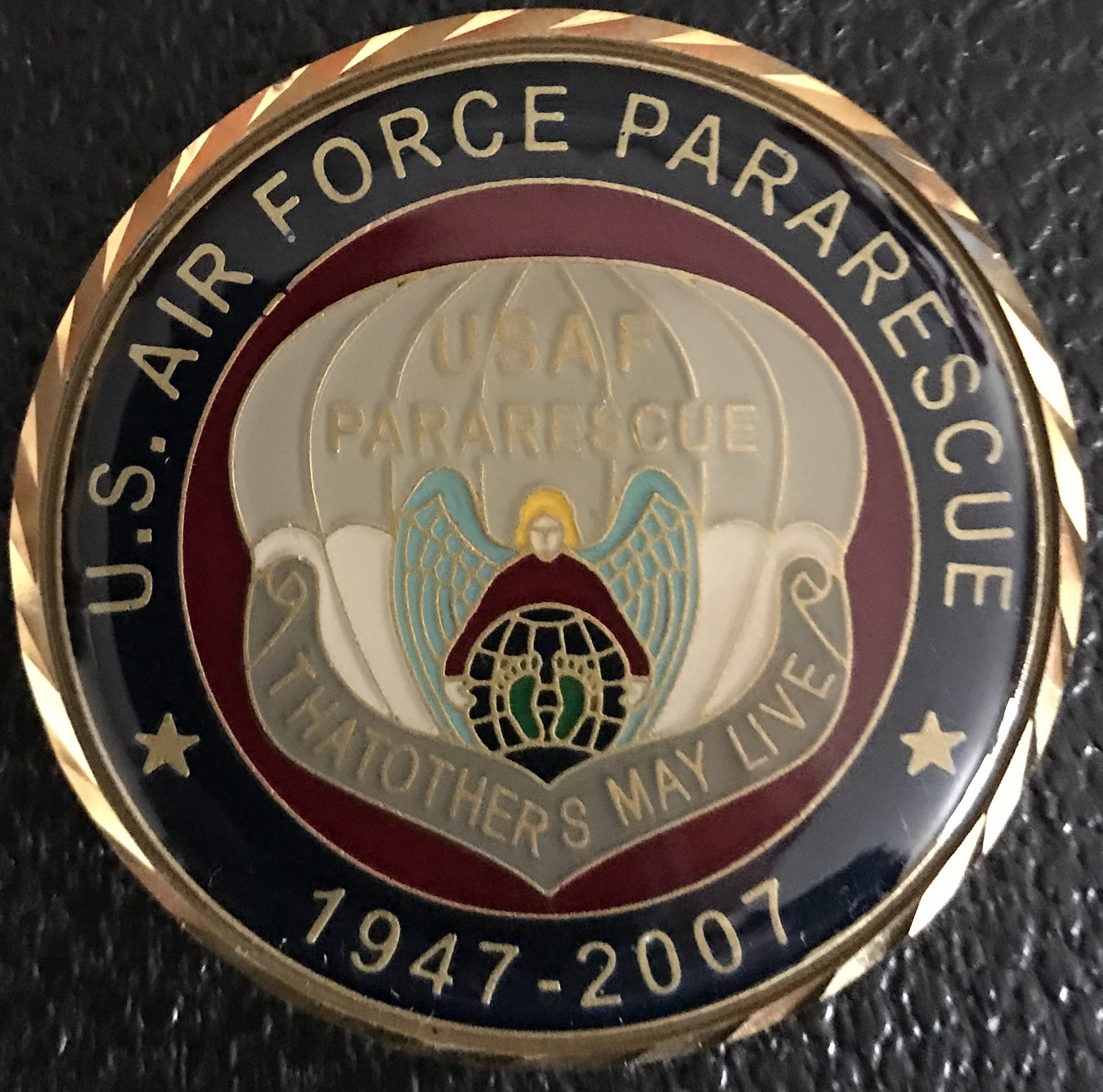 pja/ 60th Year ParaRescue Challenge Coin 01-0035
