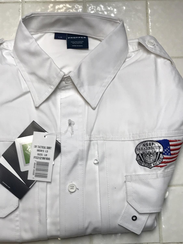 pja/ PJ Flash & Tattered Flag Long Sleeve Tactical Shirt/Large