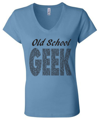 Old School Geek T-Shirt (Women's) 00017