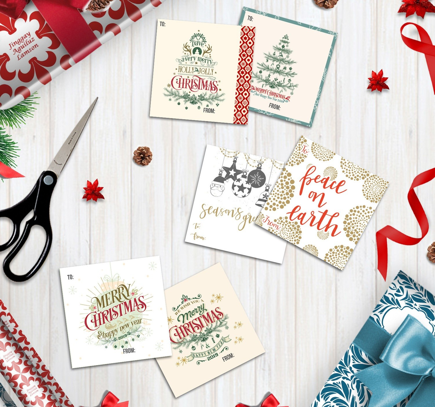 Christmas and All occasion Personalized Gift Tag