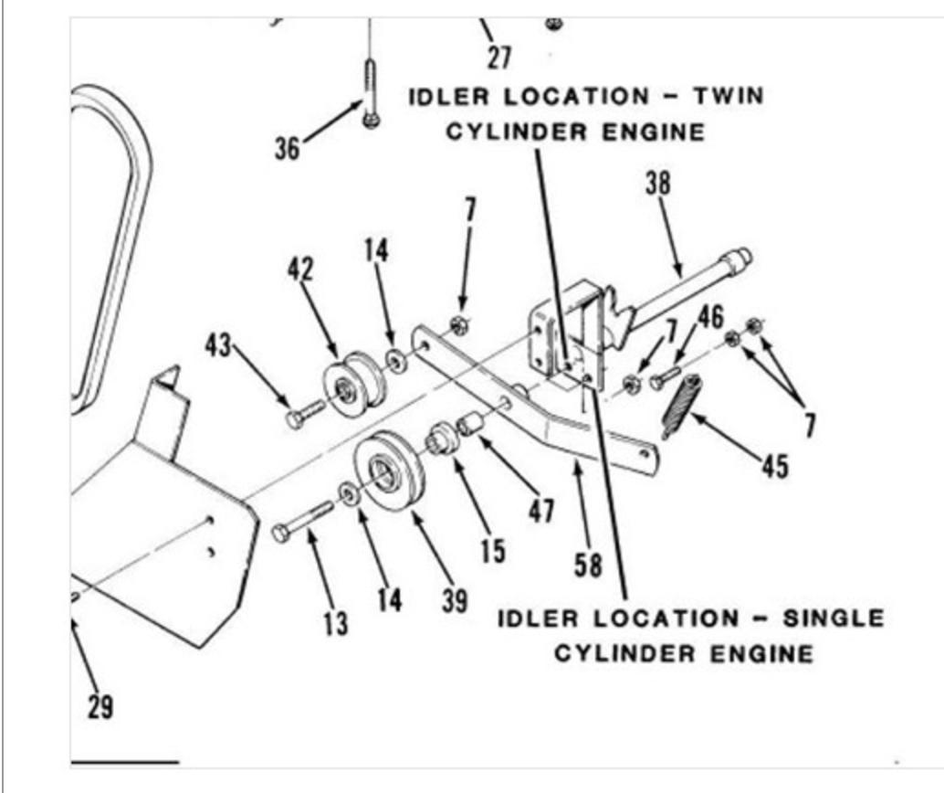 reproduction toro wheel horse tiller bracket