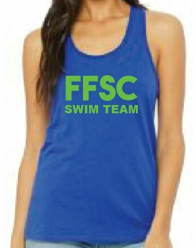 Bella + Canvas Ladies' Relaxed Jersey Tank with FFSC SWIM TEAM DESIGN