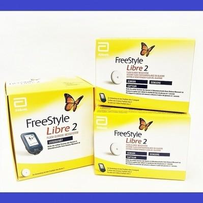 Стартовый FreeStyle Libre 2 поколение с Сигналом Тревоги Ридер + 2 сенсора