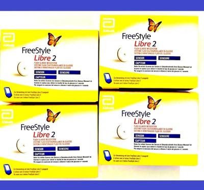 FreeStyle Libre 2 поколение Сенсор - 4 шт. С Сигналом Тревоги. Срок 07.2020