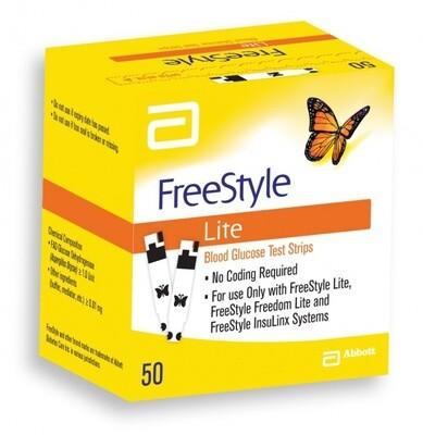 Тест полоски FreeStyle Lite №50