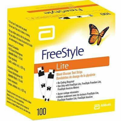 Тест полоски FreeStyle Lite №100
