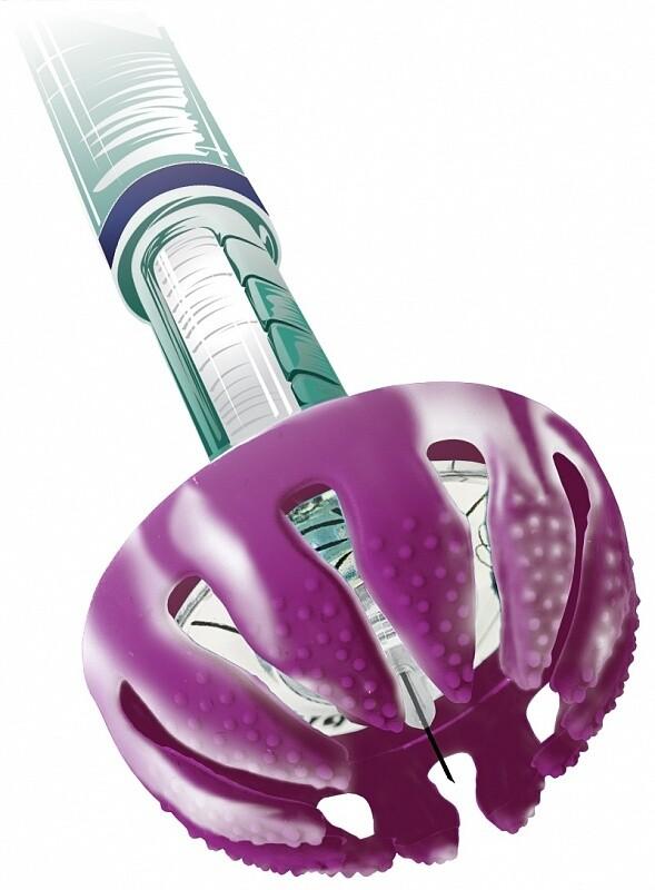 DiaSpider - помощник для безболезненного введения инсулина. Фиолетовый-Белый